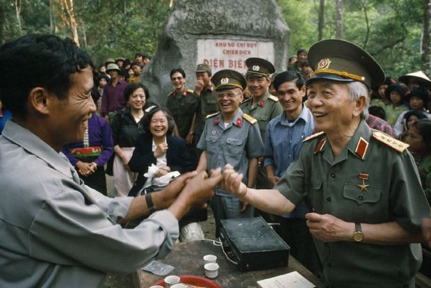 General Giap greets villagers